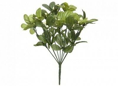 7 Stem Artificial Mistletoe Bunch For Christmas Decoration. Free Delivery