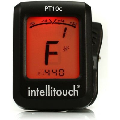 New Intellitouch Pt10 Mini Clip-On Chromatic Instrument Tuner +Free Shipping
