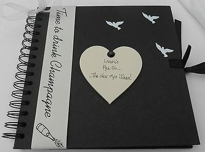 Hen Do Weekend  personalised  Photo album scrapbook  for new bride to be