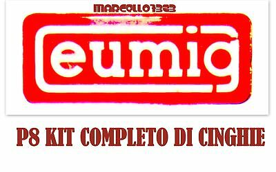 ★KIT CINGHIE DI RICAMBIO 3 x PROIETTORE STANDARD 8 mm EUMIG P8 AUTOMATIC ★