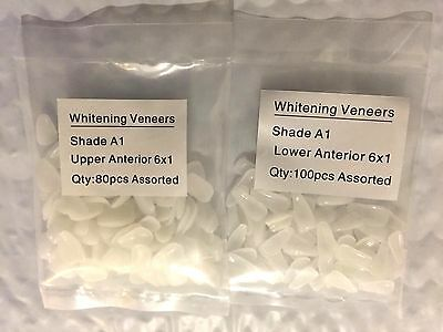 Dental Ultra-Thin Veneers Resin Teeth Upper + Lower Anterior Shade A1 100+80 PCS