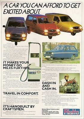 Reliant Rialto 1982-83 UK Market Leaflet Sales Brochure Saloon Estate Van GLS