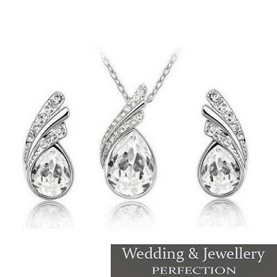 Wedding Jewelry Set, Bridal Jewellery, Crystal, Rhinestones Necklace & Earrings