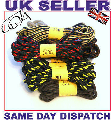STRONG Shoe Laces Hiking Walking Boot Laces / Skate Shoelaces multilisting