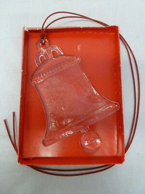 """Kosta Boda Crystal Glass Bell Ornament Large 9"""" in box"""