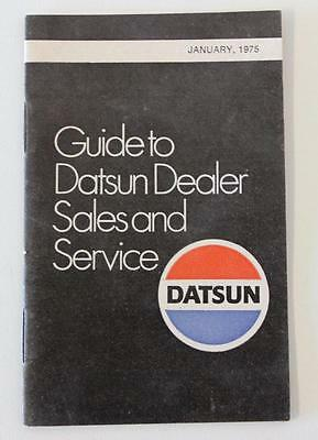 Datsun January 1975 small dealers sales & service locations guide booklet nos