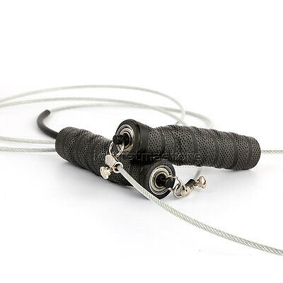 Speed Skipping Jump Rope Adjustable Steel Wire Crossfit Exercise Gym Training