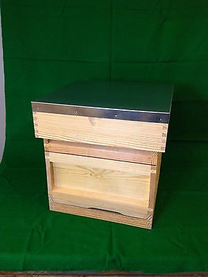 National Beehive with Gable roof and Stand Bee hive - ASSEMBLED