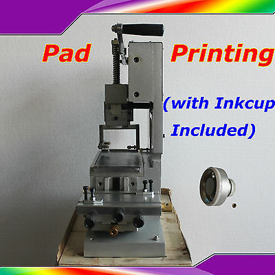 New Pad Printing Machine Manual Pad Priter Pen Ball Label PVC Mug DIY Gift Logo
