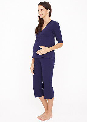 NEW - Dote - Nursing Pyjama Set in Navy - Maternity Sleepwear