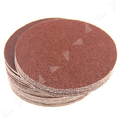 New 50 x 150MM Round No Hole Mixed Grit Sanding Sandpaper Discs