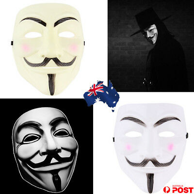 New V for Vendetta Anonymous Movie Adult Men Mask Halloween Costume Cool E5