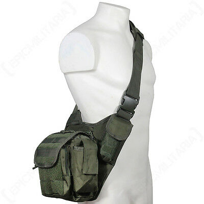 Olive Green MOLLE Shoulder PACK Military Army Tactical Sling Messenger BAG