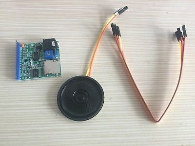MP3 Voice Module SD/TF Voice Broadcast Trigger Player + Speaker for MCU SCM