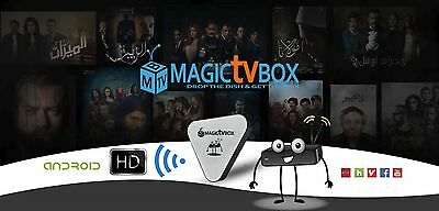 Magic TV Box HDMI IPTV Arabic Live TV Pay for 3 months and get the Reciever free