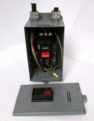Square D 2510 Nema M-0 Ser A  Manual Motor Starter with Enclosure