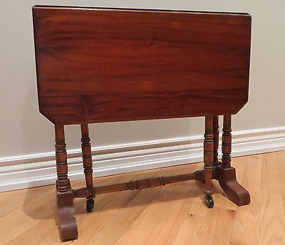 ANTIQUE ~ Stunning Irish Drop Side Table ~ VINTAGE