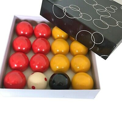 "CASINO BALLS 2"" inch Pool Snooker Billiard Red Yellow White Black Boxes Gift Set"