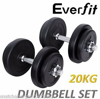 Everfit 20KG Dumbbell Weights Home Gym Set Strength Fitness Body Building