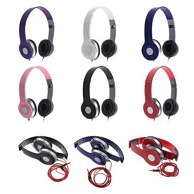 Plegable Stereo CASCOS AURICULARES para PC MP3 MP4 iPod iPhone Samsung Galaxy S6
