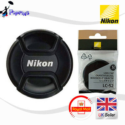 New Genuine  NIKON LC52 52mm Snap-On Lens Cap LC-52 LC 52  52 mm
