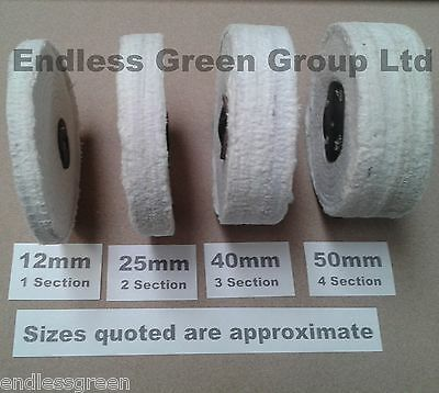 Stitched Cotton Buffing Wheel - Clean & Polish All Steel & Ferrous Metals