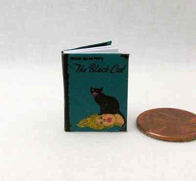 THE BLACK CAT BY EDGAR ALLEN POE Miniature Book Dollhouse 1:12 Scale Readable