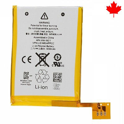 NEW iPod Touch 5 5th Gen Generation Replacement Battery 616-0621 1030mAh