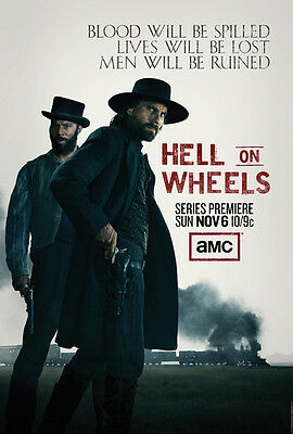 "Hell on Wheels TV Series movie poster LARGE 18"" wide by 27"" high"