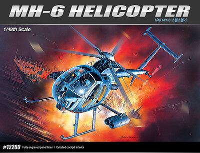 1/48 Academy 12260 MH-6 HELICOPTER Plastic Model Kit Toy