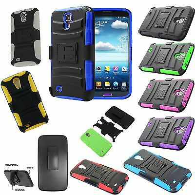official photos ee4a4 4c0c2 HOLSTER BELT CLIP Defender Stand Hybrid Case Cover For Samsung Galaxy Mega  6.3