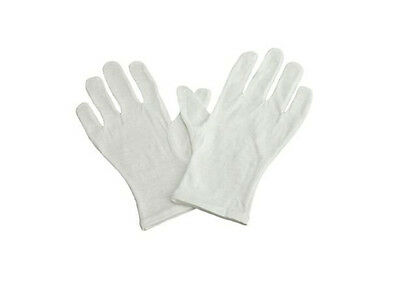 24pcs 12 Pairs Soft White Lightweight Cotton Gloves One size Health Work