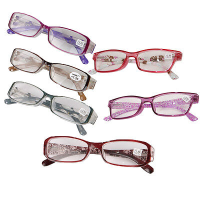 Mens Ladies Frame Magnifying Reading Glasses Eyeglass Nerd Spectacle +1.0~+4.0