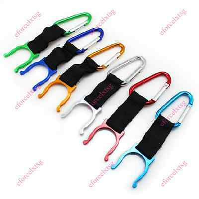 Water Bottle Holder Hook Buckle Clip Carabiner Snap Outdoor Camping Hiking CAD E
