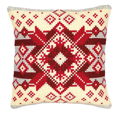 Vervaco 1200/116 Canvas Scandinavian Cushion Front Cross Stitch Kit 40cm Approx