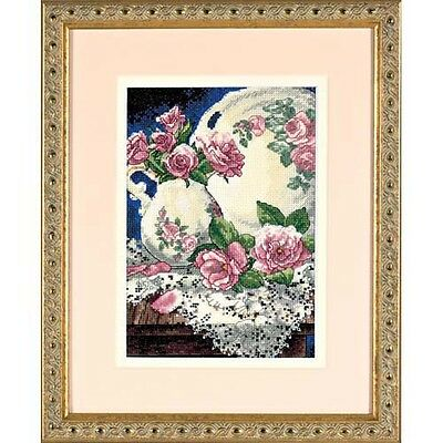 Dimensions D06929 | Lace & Roses Picture Counted Cross Stitch Kit | 13 x 18cm