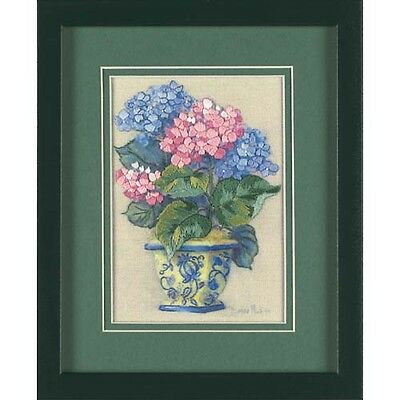 Dimensions D16051 | Colourful Hydrangea Picture Crewel Embroidery Kit 13 x 18cm
