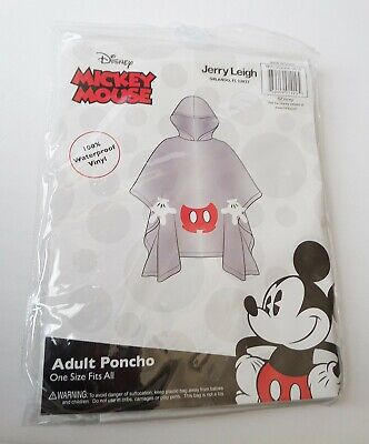 Disney - Mickey Mouse - Mickey Body Parts Adult Hooded Clear Rain Poncho