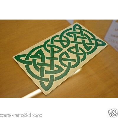 Celtic Narrowboat Knot Rectangular Sticker Decal Graphic STYLE 3 - SINGLE