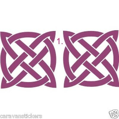 Celtic Narrowboat Knot Square Sticker Decal Graphic STYLE 1 - SINGLE