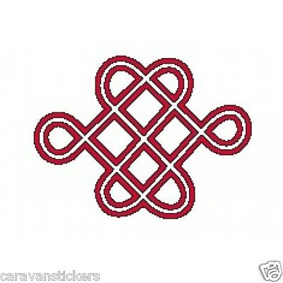 Celtic Narrowboat Knot Square Sticker Decal Graphic STYLE 4 - SINGLE