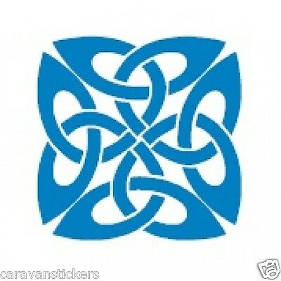 Celtic Narrowboat Knot Square Sticker Decal Graphic STYLE 5 - SINGLE