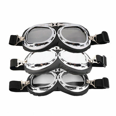 Hot Anti-UV Safety Motorcycle Scooter Pilot Goggles Helmet Glasses Motocross GA