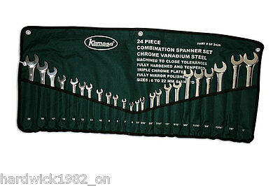 KAMASA COMBINATION SPANNER WRENCH SET 24 PCE 6-22mm & IMPERIAL