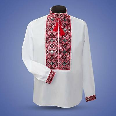 Ukrainian embroidered shirt for man sorochka, vyshyvanka of cotton linen 5 color