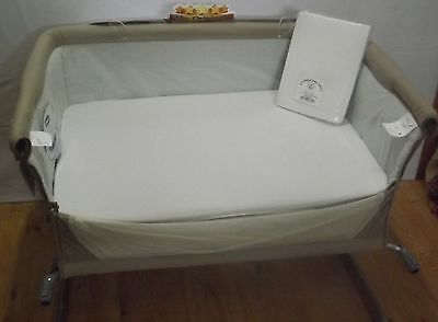 New 2 x Baby Crib Fitted Sheets to fit Chicco Next2Me Crib  - 100% Cotton
