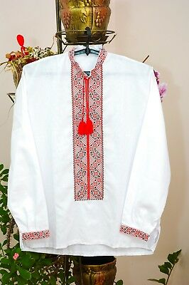 Ukrainian embroidered shirt for man, sorochka, vyshyvanka of cotton, all sizes