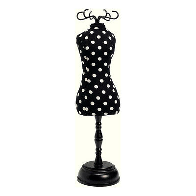 Prym 610319 | Black & White Polka Dot Print Dressform Pin Cushion | 7.2x7.2x28cm