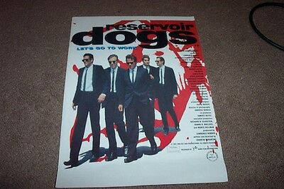 Reservoir Dogs --  4 Page Glossy  Pressbook--Brand New