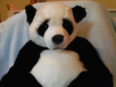 "Hermann Panda Bear plush made in Germany 20"" excellent"